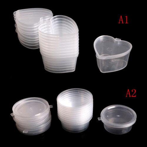 10X//lot Claro Plástico Color Plastilina Contenedores Cajas de almacenamiento slimes storagehg