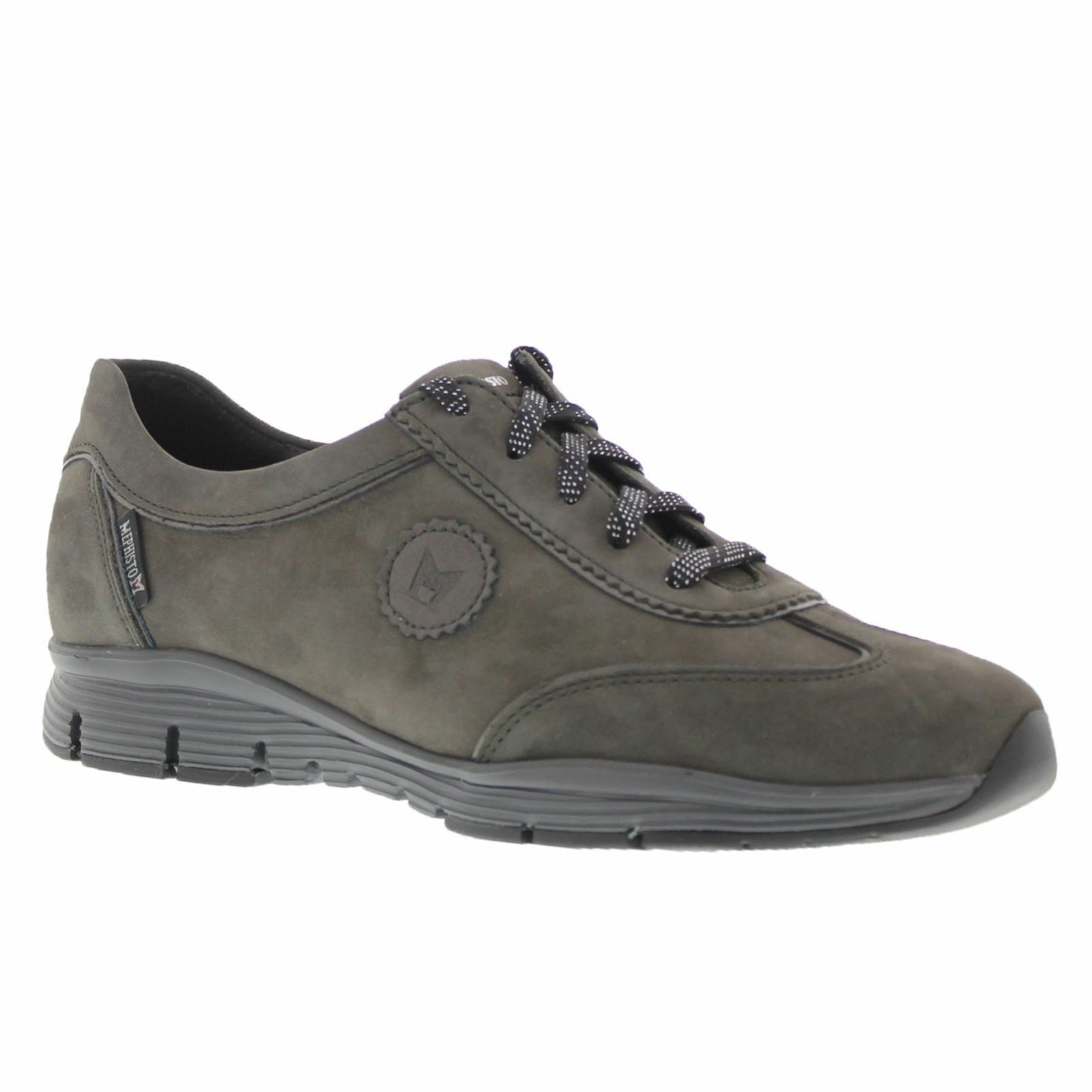 Mephisto Yael Grey Womens Comfort Low Top Trainers