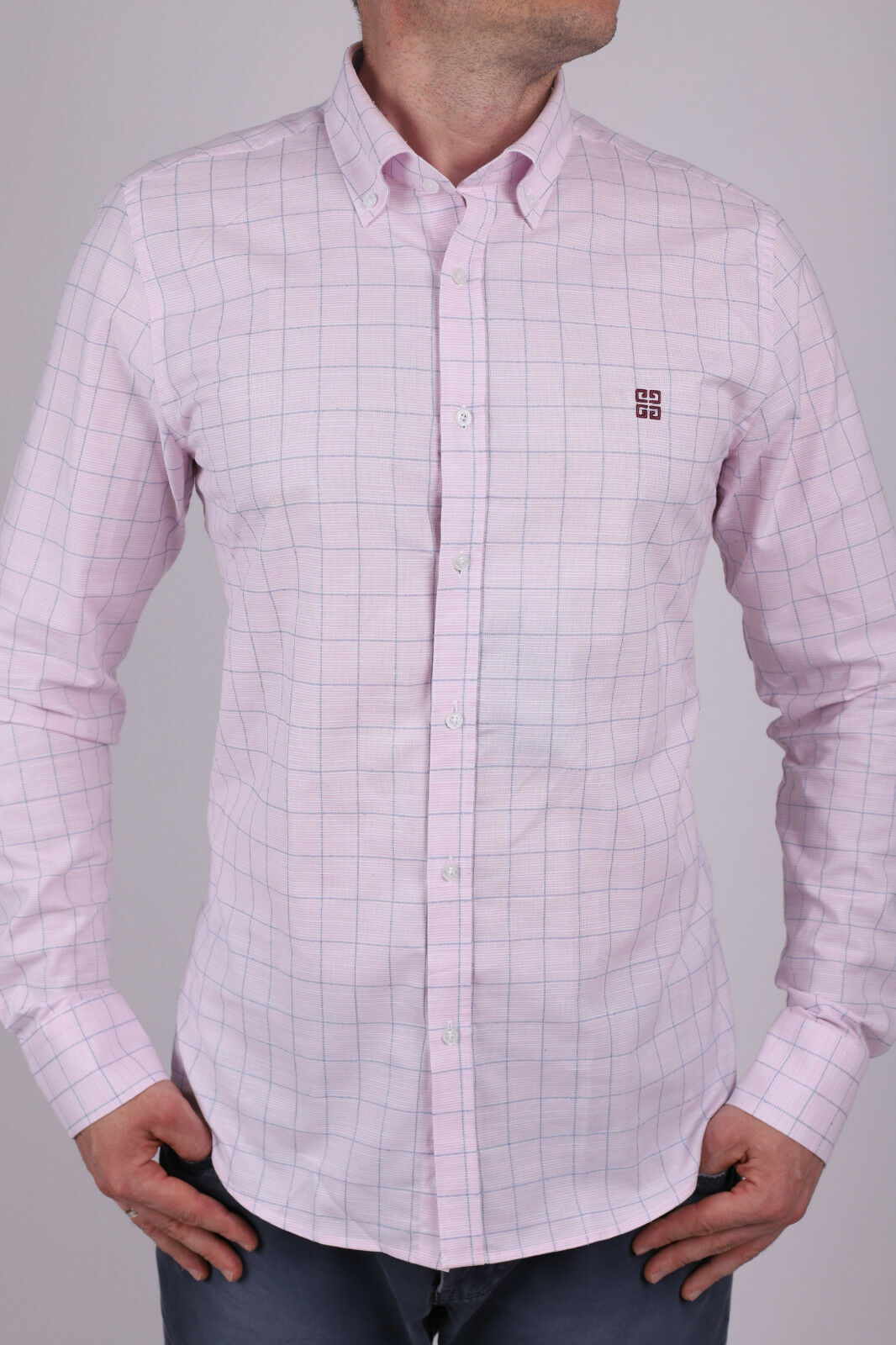 New Model Pink Givenchy  Slim Fit Shirt  Size S