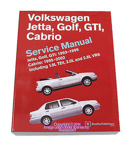 bentley diagram repair service manual volkswagen vw cabrio golf gti rh ebay com  volkswagen golf 3 service manual