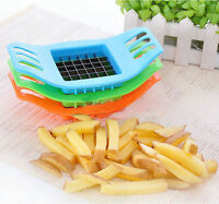 1 Pcs Potato Chip Pvc + Stainless Cut Cutter Chopper Knife Vegetable Slicer