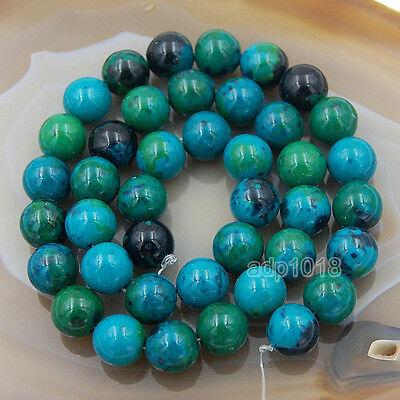 "Chrysocolla Gemstone (Dyed) Round Beads 15"" 4mm 6mm 8mm 10mm 12mm 14mm 16m"