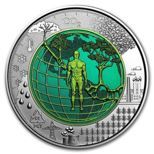 SKU#169483 2018 Austria Silver//Niobium Anthropocene €25 BU