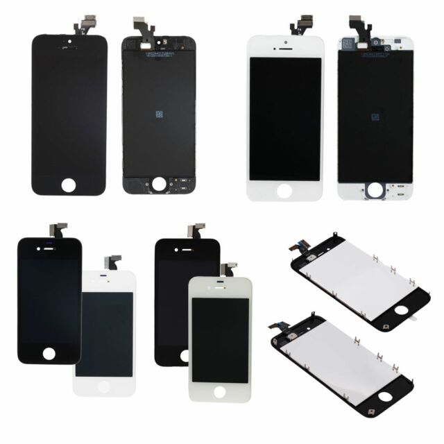 WHITE & BLACK LCD w/Frame Touch Screen Digitizer Assemblyfor iPhone 4/4S/5/5C/5S