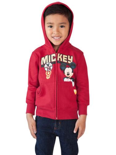 Toddler Boys Mickey Mouse Zip up Hoodie Sweatshirt Red