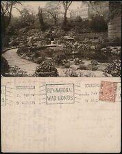GB WW1 1918 PPC MACHINE CANCEL WAR BONDS...SCARBOROUGH VALLEY LILY POND
