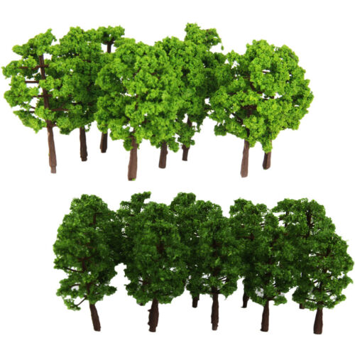 40x 1//150 Plastic Model Trees Miniature Landscape Garden Park Scenery Tree