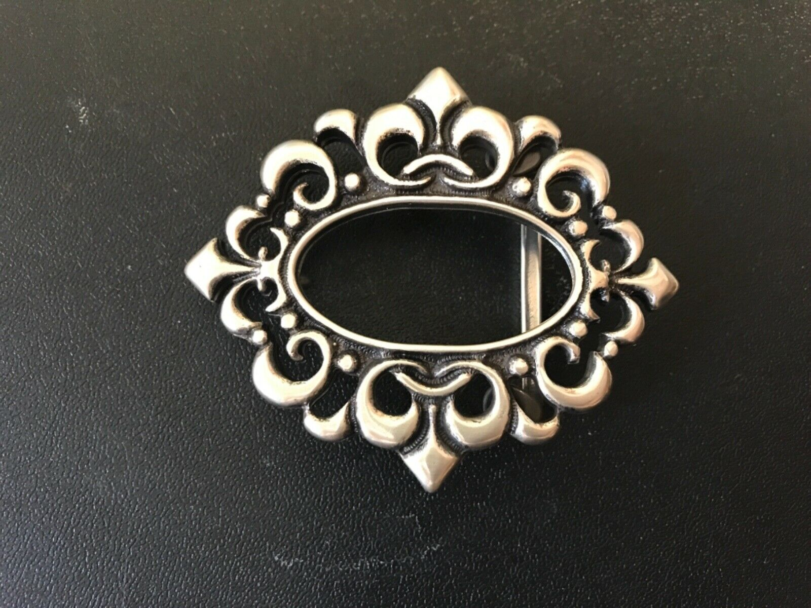 Gothic,Baroque,medieval ,Viking , Saxon belt buckle.Made in Italy.Silver plaited
