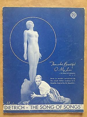 Marlene Dietrich Original 1933 The Song of Songs Paramount Movie Program