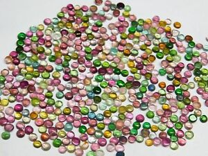 50-Pieces-3-4-MM-Wholesale-Lot-Natural-Multi-Tourmaline-Round-Colorful-Gemstones
