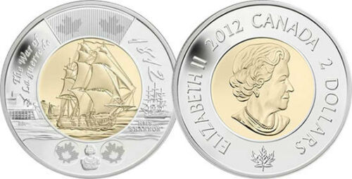 Sealed by RCM 1812-2012 Canada HMS Shannon $2 Toonie Coin