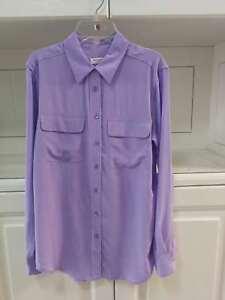 fca6d78ca1c991 Image is loading Equipment-Slim-Signature-Silk-Shirt-Purple