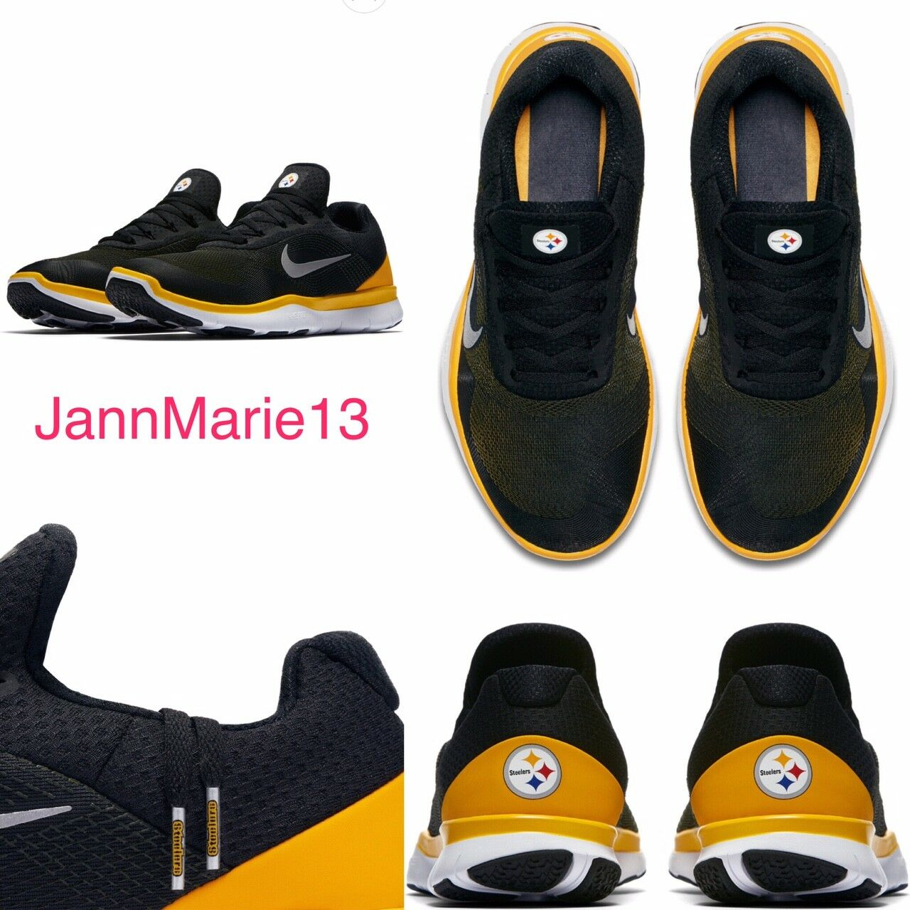 NEW Men's NFL Nike Free Trainer V7 PITTSBURGH STEELER shoes Sneakers 11 12 13 14