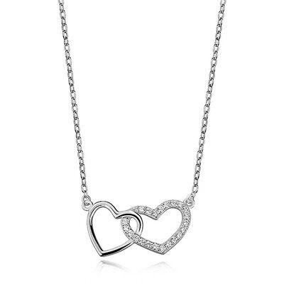 Halskette mit Zirkel /& Rechteck Anhänger aus 925er Silber Kette Collier