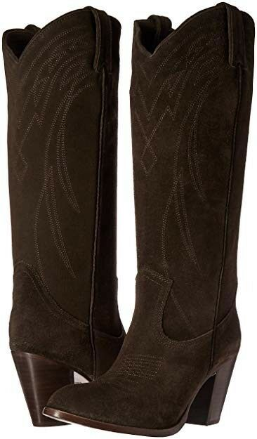 Auth FRYE Ilana Suede Pull on Western Style Boots sz 8