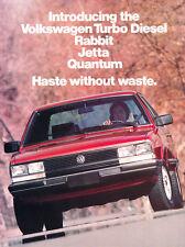 1983 Vw Volkswagen Turbo Diesel Car Sales Brochure Folder Jetta Quantum Rabbit