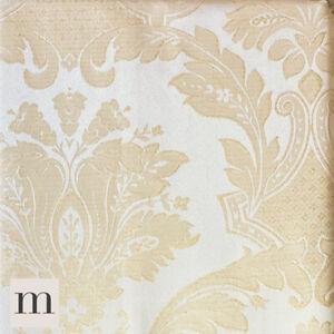 Lujo-oro-resplandecientes-Marfil-Frances-Floral-Plisado-Del-Lapiz-Cortina-Par-Forrado-66x72