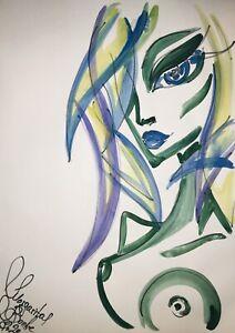 Margarita-Bonke-Malerei-PAINTING-erotica-EROTIK-Zeichnung-akt-nu-art-Alien-Nude