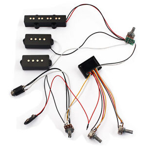 Details about Wiring Harness 3 Band AMP EQ Preamp Equalizer Pickup on