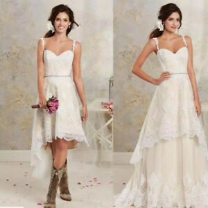 cb48deb1c5 2 Pieces in 1 Short Wedding Dresses Vintage Western Country Wedding ...