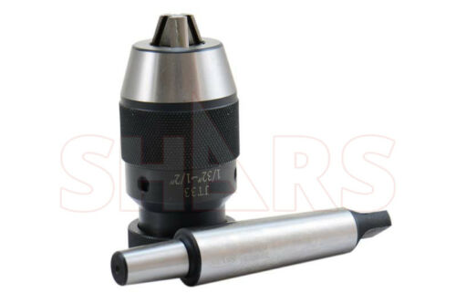 "SHARS 1//2/"" KEYLESS DRILL CHUCK WITH MT3 ARBOR NEW"