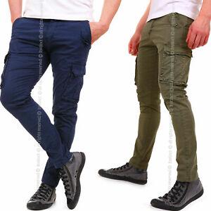 Pantaloni-Uomo-Cargo-con-Tasche-Tasconi-Laterali-Multitasche-Slim-FIT-822