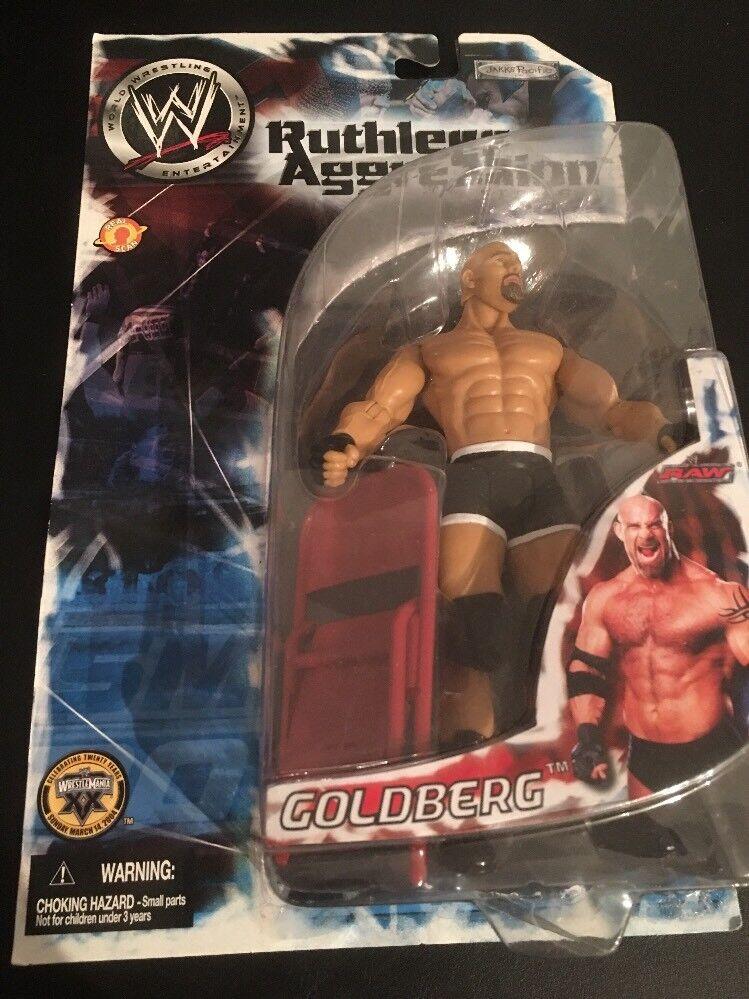 2003 Jakks WWE WWF Ruthless Aggression Series 6 Goldberg Action Figure New