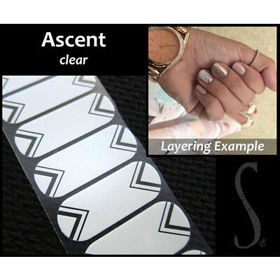 Jamberry Nail Wraps In-Stock Selection of BASIC DESIGNS ON CLEAR ~ HALF SHEETS