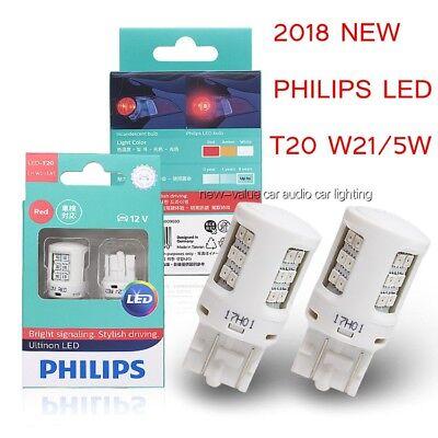 New Red Stop Brake Fog Signal Light Genuine Philips PR21W 21W Tail Bulb 12088 UE