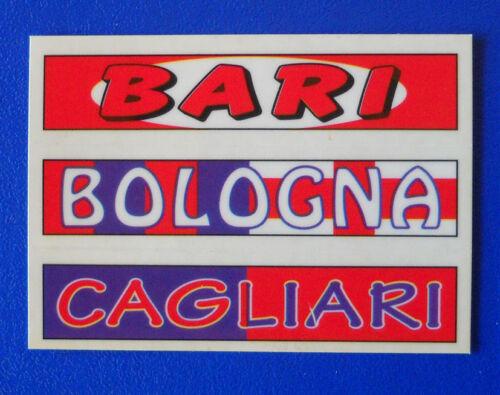 new BARI-BOLOGNA-CAGLIARI FIGURINA PANINI SUPERCALCIO 2000