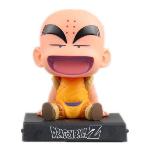 NB Bobble Head Dragon Ball Z Son Goku Krillin Figure Phone Holder Car Decoration