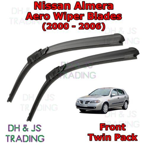 For Nissan Almera Aero Wiper Blades 00-06 Front Flat Windscreen Blade Wipers