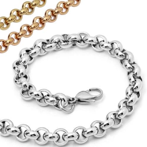 Acero inoxidable pulsera erbskette ø2-3-4-5-7-9mm longitud 16-25cm plata oro Rosegold