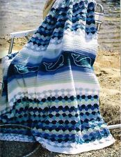 50 AFGHAN CROCHET PATTERN BOOK - WHALES MILE-A-MINUTE GRANNY ++