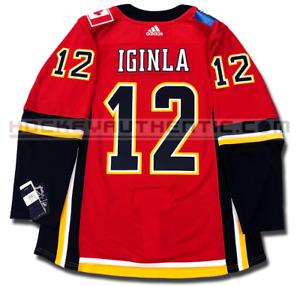 JAROME IGINLA CALGARY FLAMES HOME AUTHENTIC PRO ADIDAS NHL JERSEY
