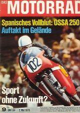 M7009 + OSSA 250 ccm + Winterfahrt Eschwege + Das MOTORRAD 9/1970