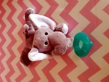 Pacifier with plush stuffed animal - elephant