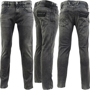 15f56aeb8fe Replay Grey Anbass Slim Fit Stretch 'Hyperflex' Jean / Denim Pants ...