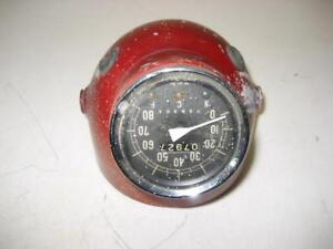 1961-65-Yamaha-YA5-Headlight-Bucket-Red-W-Speedometer-Used-WHL-69