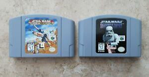 Star Wars Rogue Squadron & Star Wars Shadows of the Empire Nintendo 64 N64 WORKS