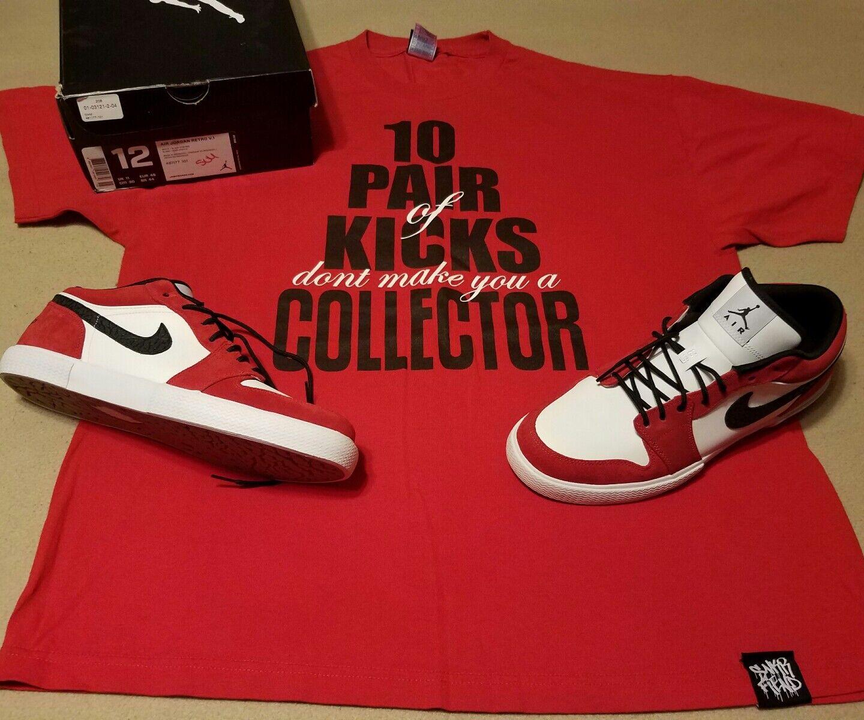Mens Air Jordan retro v.1 with matching RARE tee shirt