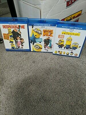 Minions & Despicable Me Blu-ray Lot - 3 Blu Rays W/ Extras ...