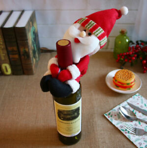 Cute-Christmas-Santa-Snowman-Wine-Bottle-Cover-Party-Decor-Xmas-Ornaments