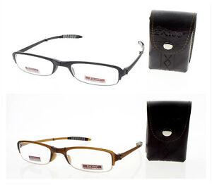 Half Frame Folding Reading Glasses : Unisex Half Frame TR-90 Flexible Folding Reading Glasses ...