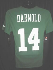 0d3cebab7 New York Jets Sam Darnold #14 Men's Nike Dri-Fit Name and Number ...