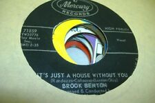 Soul 45 Brook Benton - It'S Just A House Without You / Frankie And Johnny On Mer