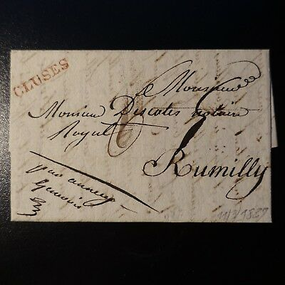1827 Lettre Cover Marque Postale Cluses Rouge -> Rumilly