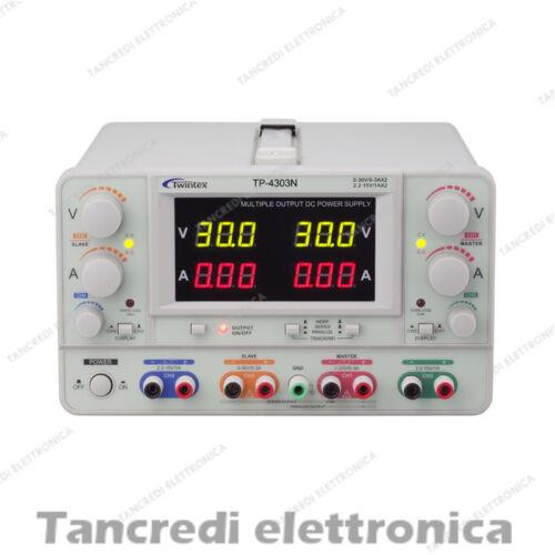 Alimentatore Twintex TP-4303N 30V 3A 15V 1A da laboratorio professionale dc