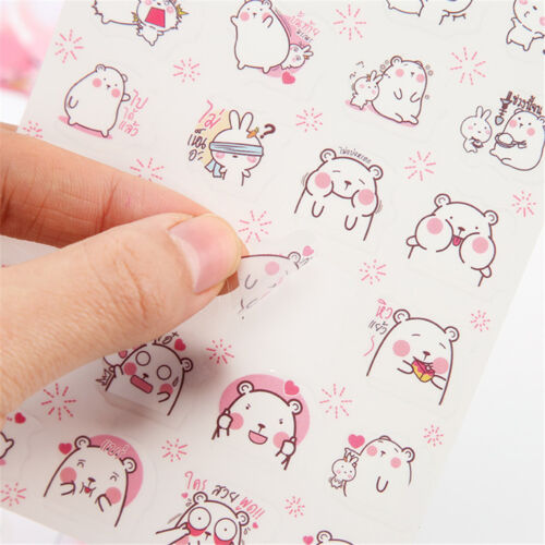 6pcs//set Cartoon Cute Bear In Love Stickers Kawaii Stationery DIY Scrapbooking