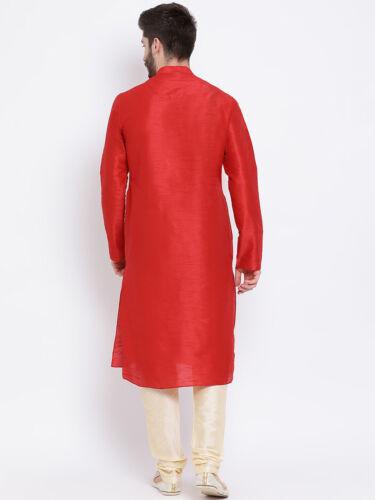 Men/'s Silk Kurta Pajama Set Indian Traditional Top Tunic Ethnic Wear Shirt